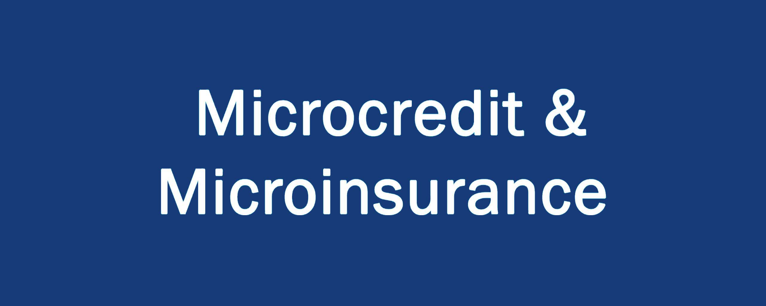 Microcredit & Microinsurance