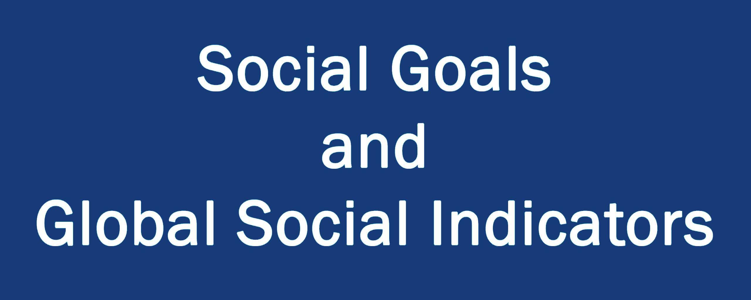 Social Goals and Global Social Indicators